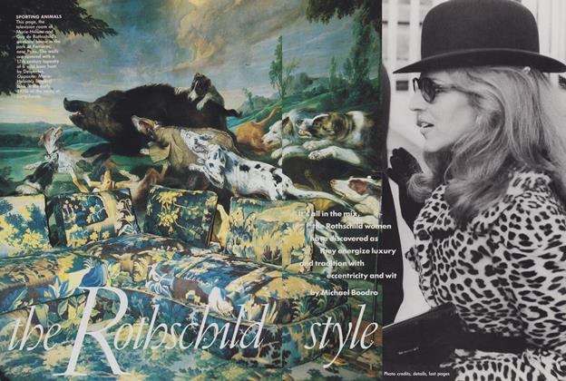 Article Preview: The Rothschild Style, November 1988 | Vogue