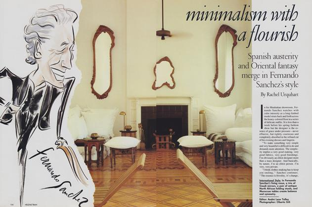 Article Preview: Minimalism with a Flourish, January 1989 | Vogue