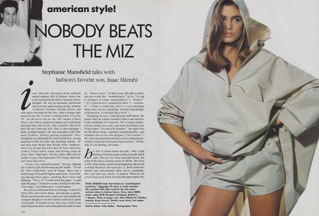 Article Preview: American Style! Nobody Beats the Miz, February 1989 | Vogue