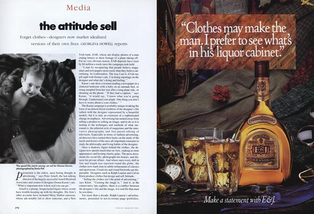 Article Preview: The Attitude Sell, March 1989 | Vogue