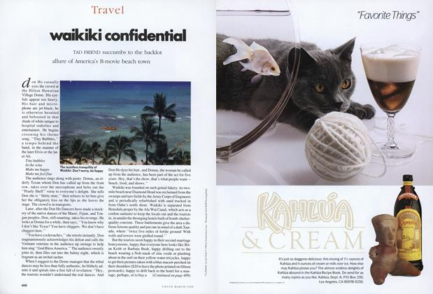 Article Preview: Waikiki Confidential, March 1989 | Vogue