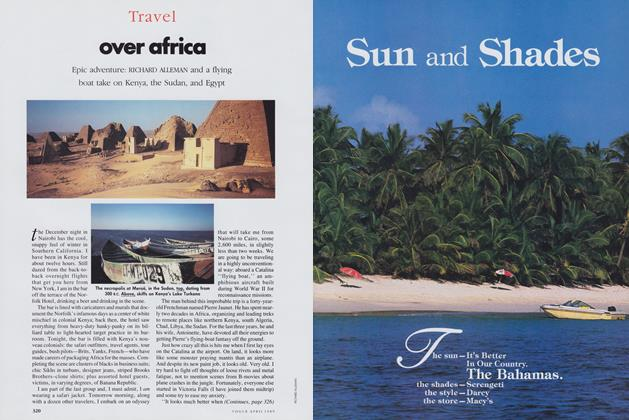 Article Preview: Over Africa, April 1989 | Vogue