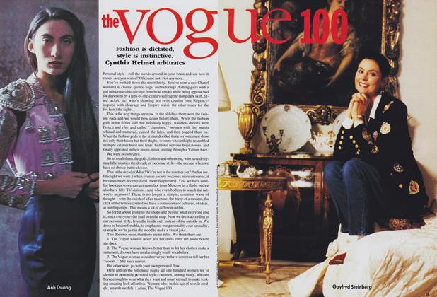Article Preview: The Vogue 100, June 1989 | Vogue