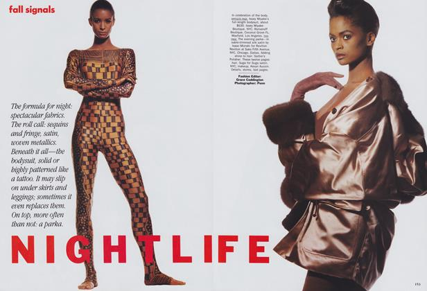 Article Preview: Fall Signals: Nightlife, July 1989 | Vogue