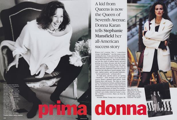 Article Preview: Prima Donna, August 1989 | Vogue