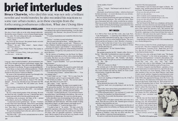 Brief Interludes