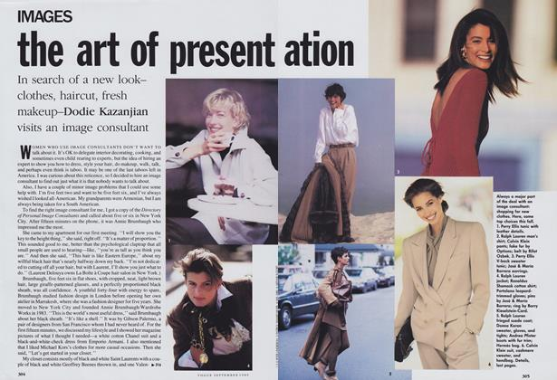 Article Preview: The Art of Presentation, September 1989 | Vogue