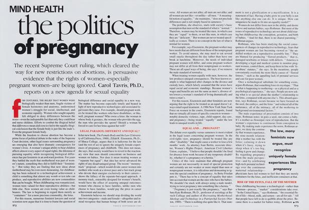 The Politics of Pregnancy