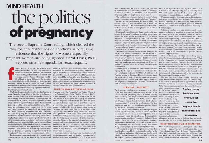 The Politics of Pregnancy