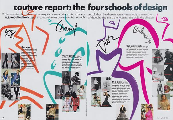 Article Preview: Couture Report: The Four Schools of Design, October 1989 | Vogue