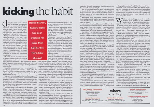 Article Preview: Kicking the Habit, October 1989 | Vogue