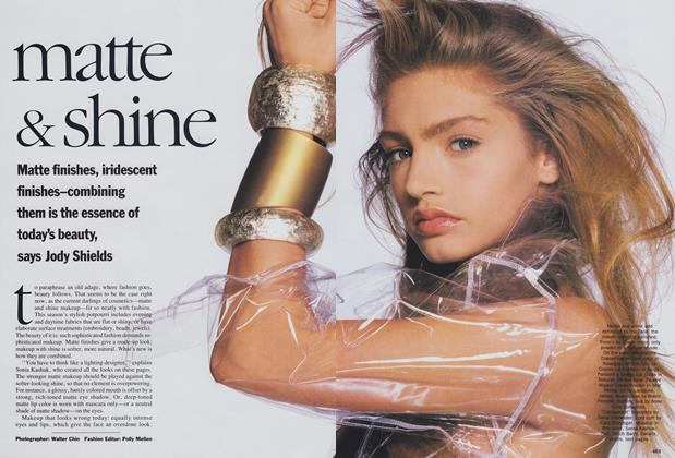 Article Preview: Matte & Shine, November 1989 | Vogue