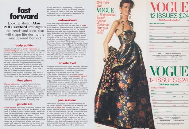 Article Preview: Great Expectations: Fast Forward, November 1989 | Vogue