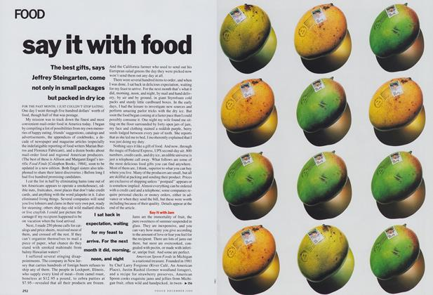 Article Preview: Say It with Food, December 1989 | Vogue
