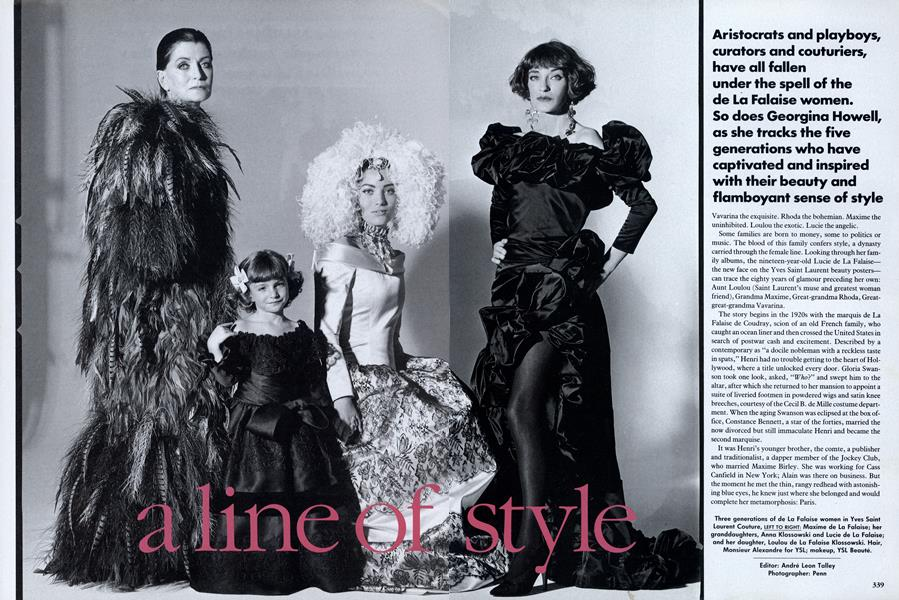 A Line of Style