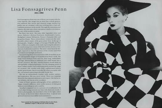 Lisa Fonssagrives Penn 1911-1992 - April | Vogue
