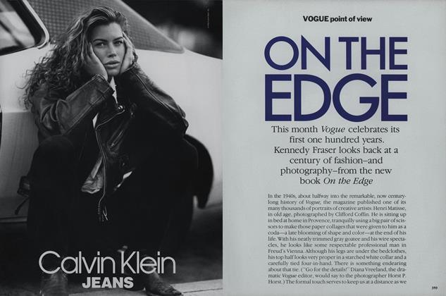 Article Preview: On the Edge, April 1992 | Vogue