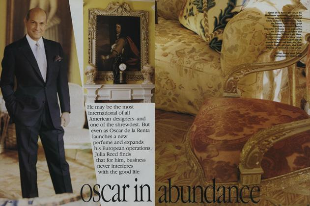 Article Preview: Oscar in Abundance, April 1992 | Vogue