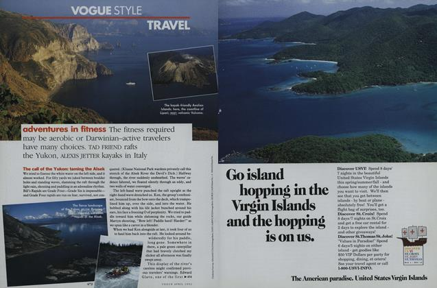 Article Preview: Travel: Adventures in Fitness, April 1992 | Vogue