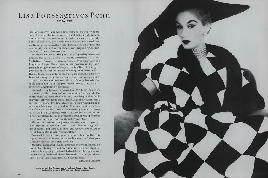 Lisa Fonssagrives Penn 1911-1992