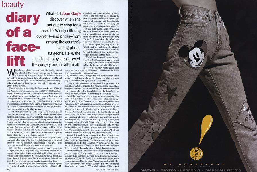 Face-lift | Vogue | SEPTEMBER 1992