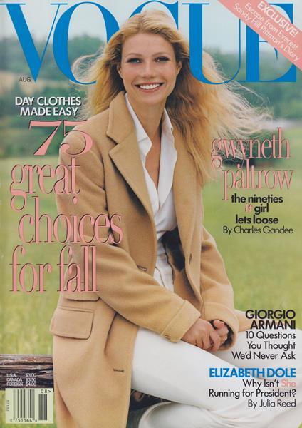 Issue: - August 1996   Vogue
