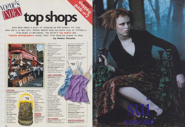 Global Shopping Guide No. 2: Top Shops