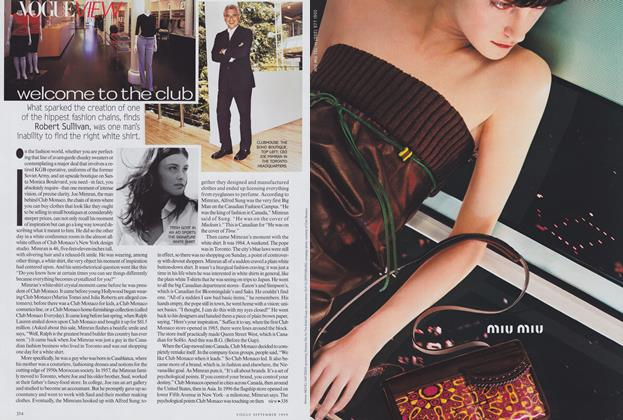 Article Preview: Welcome to the Club, September 1999 | Vogue