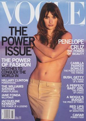 Cover for the March 2001 issue