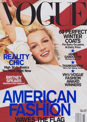 Cover for the November 2001 issue