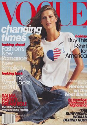 Cover for the December 2001 issue