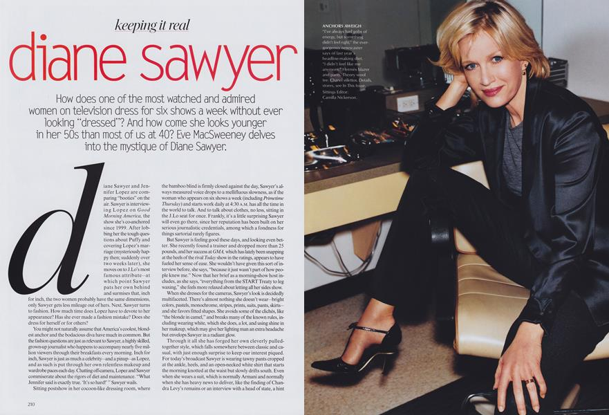 Keeping It Real: Diane Sawyer