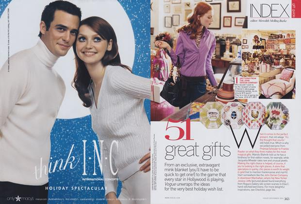 Article Preview: 51 Great Gifts, December 2004 | Vogue