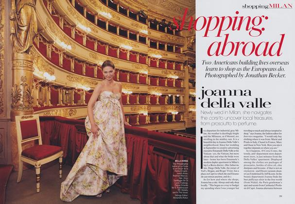 Article Preview: Shopping Abroad—Milan: Joanna Della Valle, May 2006 | Vogue