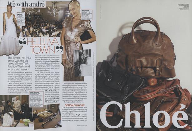 "New York Fashion Week: ""Helluva Town"""