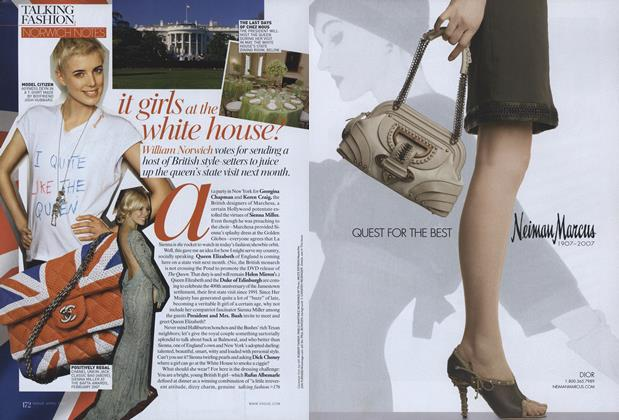Article Preview: Norwich Notes: It Girls at the White House?, April 2007 | Vogue
