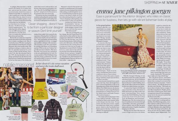 Shopping, Summer: Acquired Tastes—Emma Jane Pilkington Goergen