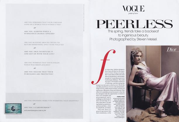Article Preview: Peerless, January 2008 | Vogue