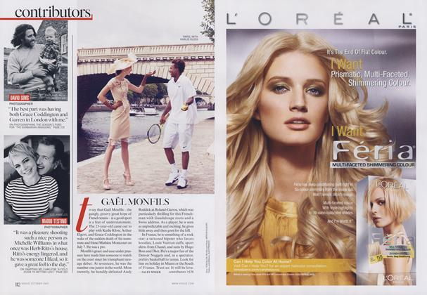 Article Preview: Gael Monfils/Marie Brenner..., October 2009   Vogue