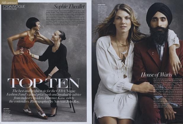6th Annual CFDA/Vogue Fashion Fund: Top Ten