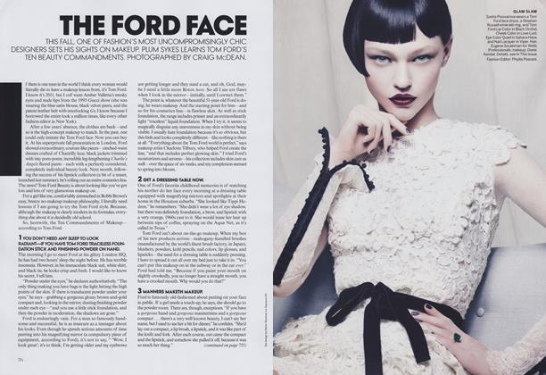 Article Preview: The Ford Face, September 2011 | Vogue