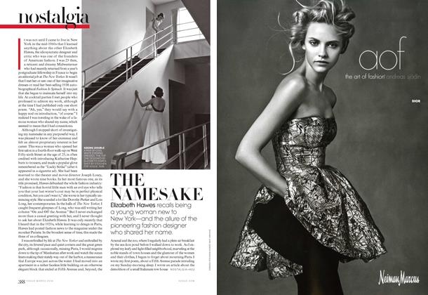 Article Preview: The Name Sake, March 2014 | Vogue
