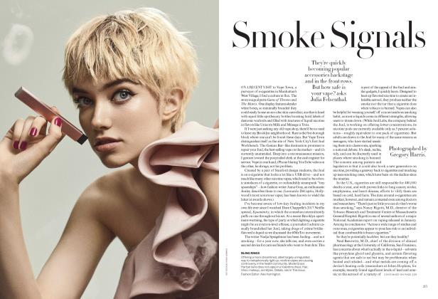 Article Preview: Smoke Signals, April 2018 | Vogue