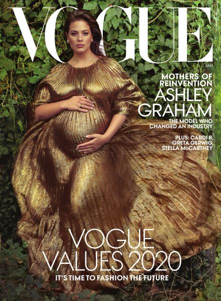 Vogue magazine cover for JANUARY 2020