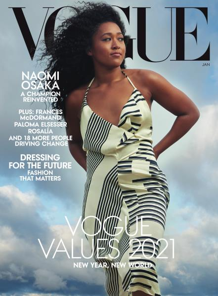 Vogue magazine cover for JANUARY 2021